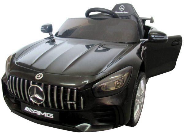 Mercedes GTR czarny Miękkie koła Eva, miękki fotelik Licencja