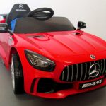 Obrazek produktu Mercedes GTR czerwony Auto na akumulator Miękkie koła Eva, miękki fotelik Licencja