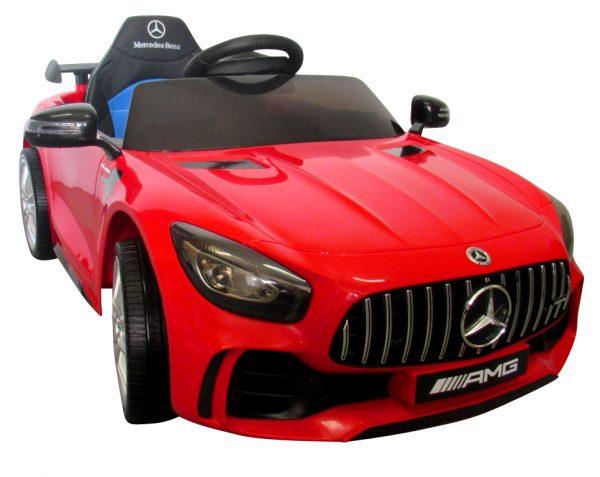 Mercedes GTR czerwony Auto na akumulator Miękkie koła Eva, miękki fotelik Licencja