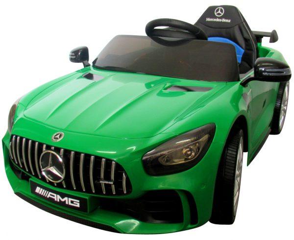 Mercedes GTR Zielony Auto Na Akumulator Miękkie koła Eva, miękki fotelik, Licencja