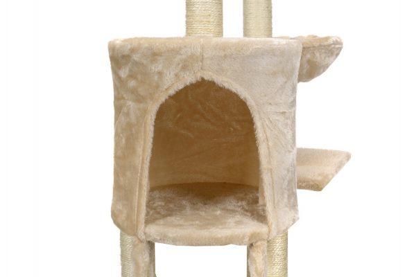 Obrazek produktu Drapak dla kota XL Beżowy z zabawkami