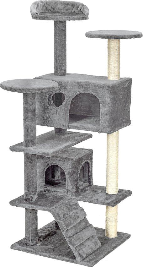 Drapak dla kota 7 poziomów Szary
