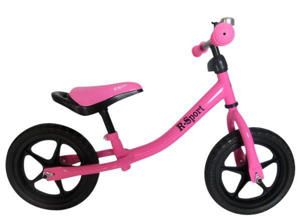 Rowerek biegowy R1 Różowy R-Sport Miękkie Koła EVA dzwonek