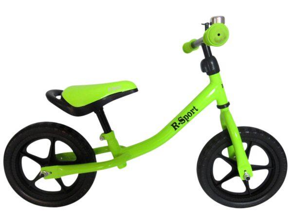 Rowerek biegowy R1 Zielony R-Sport Miękkie Koła EVA dzwonek