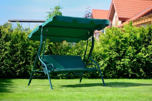 """Huśtawka ogrodowa """"Chill"""" dla 3 osób – zielona"""
