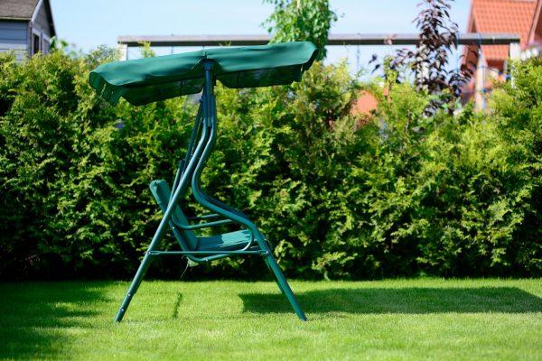 """Obrazek produktu Huśtawka ogrodowa """"Chill"""" dla 3 osób – zielona"""