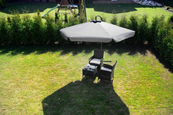 Obrazek produktu Parasol Ogrodowy na wysięgniku bocznym, składany Szary