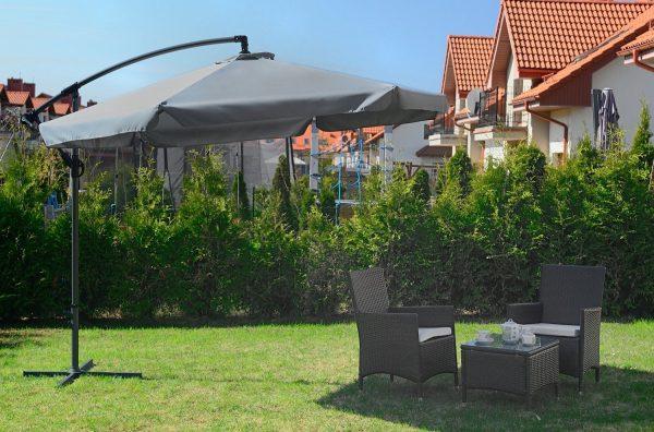 parasol Ogrodowy na wysięgniku Parasol Ogrodowy na wysięgniku bocznym, składany Szary