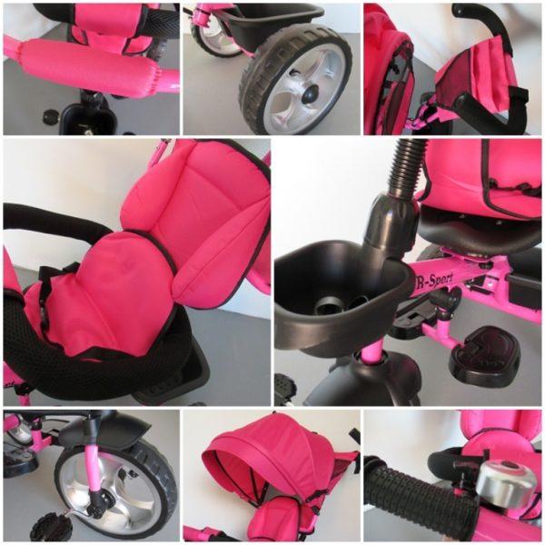 Obrazek produktu Rowerek Trójkołowy T2 różowy Obracany 360 stopni Koła EVA