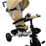 Obrazek produktu Rowerek Trójkołowy T4 beżowy Obracany 360 stopni Koła EVA