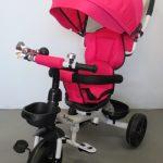Obrazek produktu Rowerek Trójkołowy T4 różowy Obracany 360 stopni Koła EVA