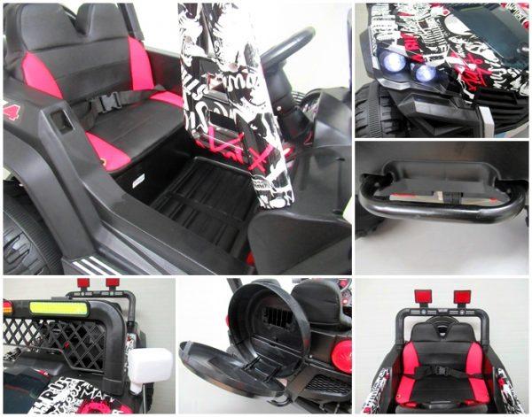 Obrazek produktu Buggy X7 4×4 czarny lakierowany Miękki Fotelik Pilot 2.4G + Bujak