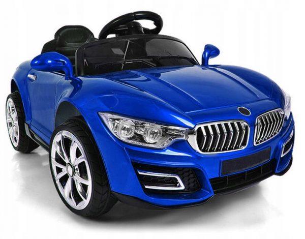 Cabrio B16 niebieski lakierowany, autko na akumulator, funkcja bujania