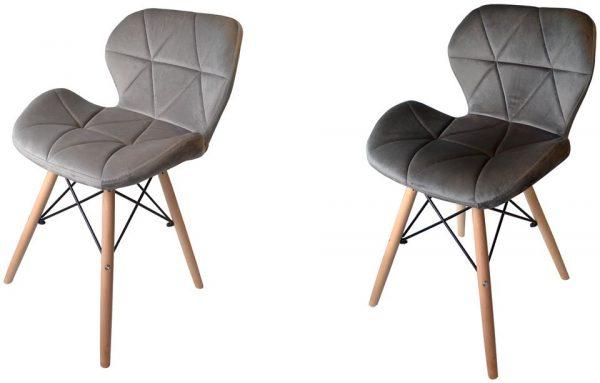 Obrazek produktu Krzesła Skandynawskie 4x Krzesło DSW tapicerowane WELUROWE