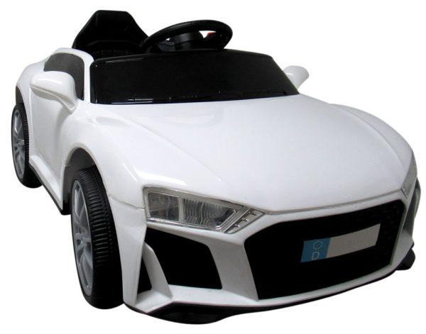 Cabrio AA5 biały, autko na akumulator, funkcja bujania