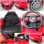 Obrazek produktu Cabrio AA5 czerwony, autko na akumulator dla dzieci, funkcja bujania