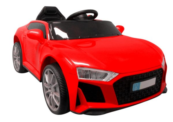 Cabrio AA5 czerwony, autko na akumulator dla dzieci, funkcja bujania