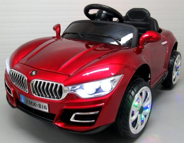 Obrazek produktu Cabrio B16 wiśniowy lakierowany, autko na akumulator, funkcja bujania