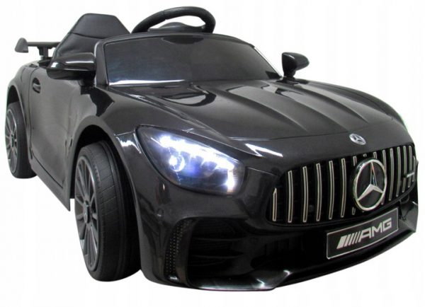 Mercedes GTR-S czarny Miękkie koła Eva, miękki fotelik Licencja