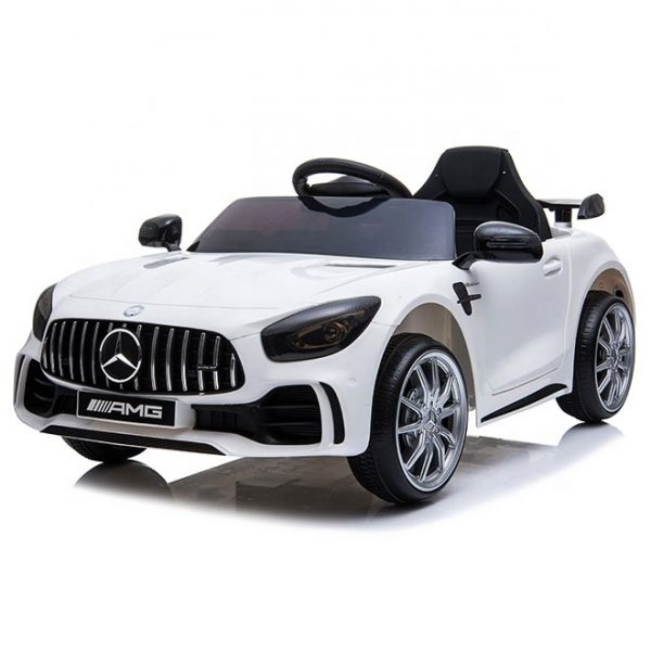 Mercedes GTR Biały Auto Na Akumulator Miękkie koła Eva, miękki fotelik, Licencja