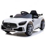 Obrazek produktu Mercedes GTR Biały Auto Na Akumulator Miękkie koła Eva, miękki fotelik, Licencja