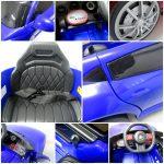 Obrazek produktu Autko na akumulator Cabrio AA5 Niebieskie 2xSilnik + kołyska