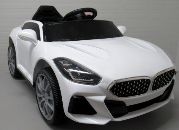 Cabrio AA6 biały autko na akumulator Pilot Światła funkcja bujania