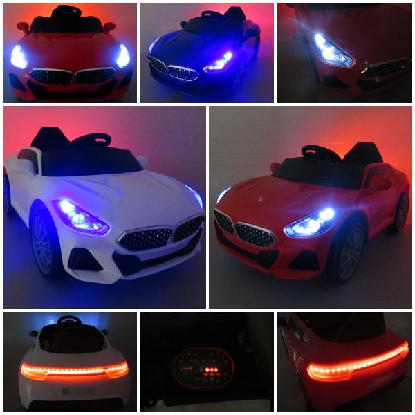 Obrazek produktu Cabrio AA6 niebieskie autko na akumulator Światła Pilot + bujak
