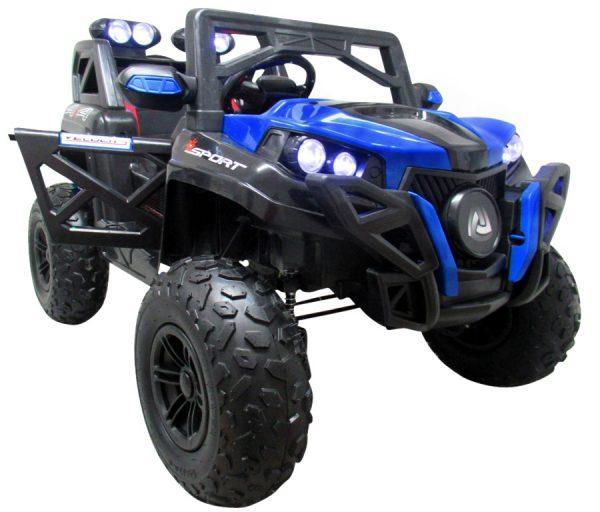 Buggy x9 4×4 niebieski pompowane koła Miękki Fotelik 12v7ah + Bujak