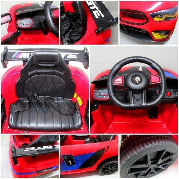 Obrazek produktu Auto na akumulator Cabrio B1 Czerwony 2xsilnik pilot 2.4G + Bujak