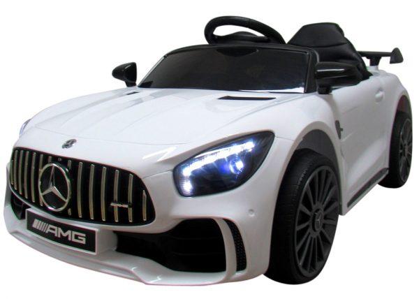 Obrazek produktu Mercedes GTR-S Biały na Akumulator Miękkie koła Eva miękki fotelik