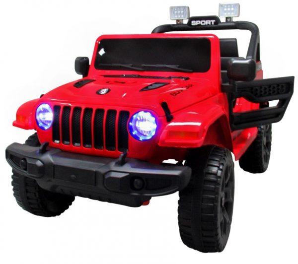 Duży Jeep X10 czerwony Pilot 2.4G Światła Muzyka Klakson