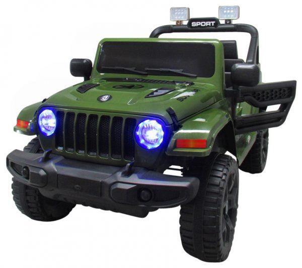 Duży Jeep X10 zielony Pilot 2.4G Światła Muzyka Klakson