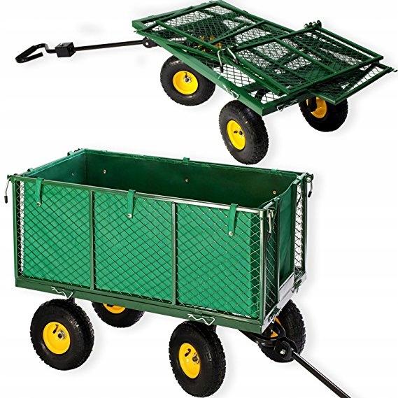 Duży Wózek Ogrodowy Transportowy Przyczepka 500kg