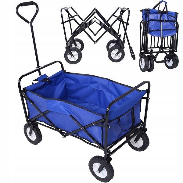 Wózek składany Turystyczny Transportowy Plażowy 90 kg