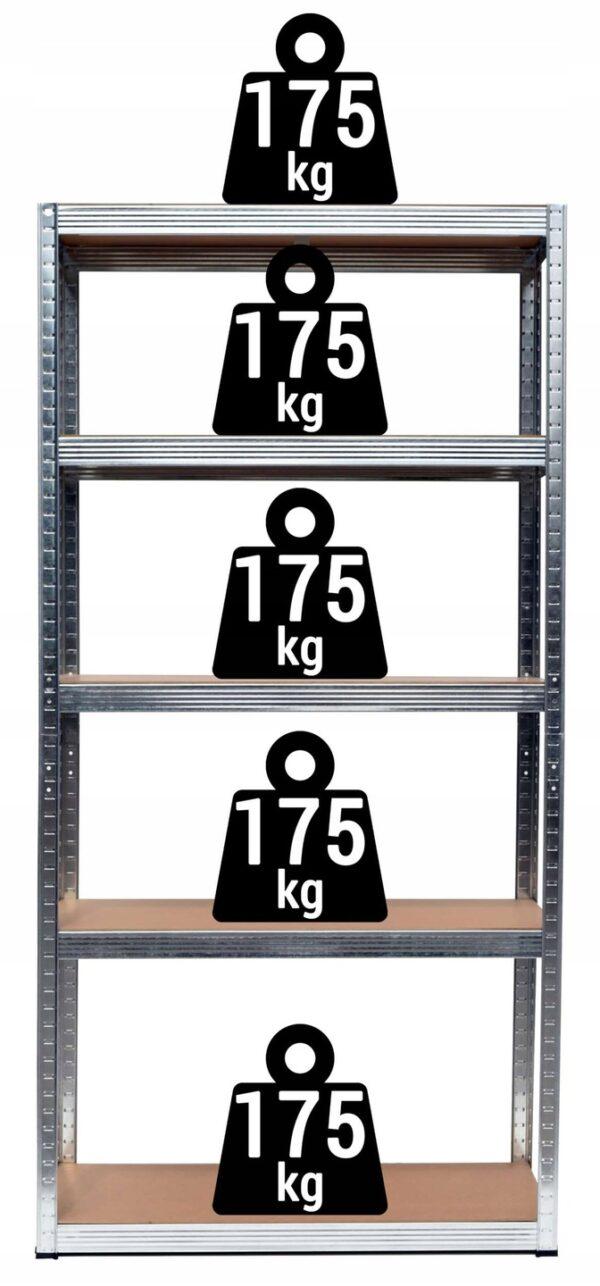 Obrazek produktu Regał Magazynowy 2w1 metalowy 180x90x40cm 875 kg